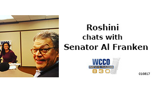 Roshini chats with Senator Al Franken