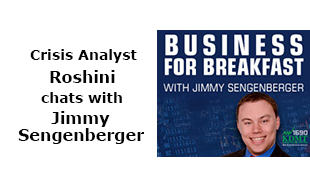 Crisis Analysis, Roshini chats with Jimmy Sengenberger