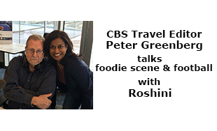 CBS Travel Editor Peter Greenberg talks foodie scene and football with Roshini during Super Bowl LII