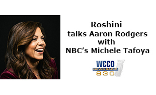Roshini talks Aaron Rodgers with NBC's Michele Tafoya